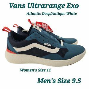 VANS UltraRange Exo, Men US SZ 9.5  Atlantic Deep Blue White Black Sneaker NEW