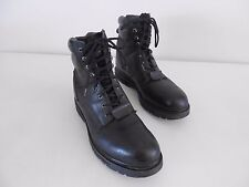 Men's Wolverine Steel Toe Boots Motor./Work Blk Leather USA 12 EUR 45 Med 03165