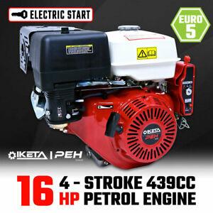 16HP OHV Petrol Engine Stationary Motor Horizontal Shaft Electric Start