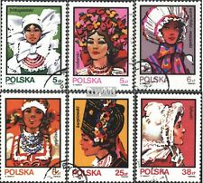 Poland 2891-2896 (complete issue) used 1983 Costumes: Headgear