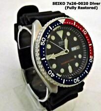SEIKO SUBMARINER SKX009 'Pepsi' Black Dial. Automatic Scuba Diver's 7s26-0020