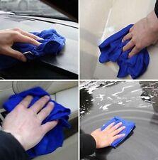 6PCS Blue Microfiber Absorbent Towel Car Clean Wash Polish Towel Multi-function