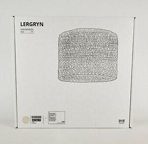 "Ikea Lergryn Lamp Shade Pendant/Floor Knitted Beige/Handmade 17"" New"