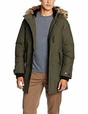 Mens Schott NYC M53 Manteau Homme Khaki Coat Large CS078 FF 01