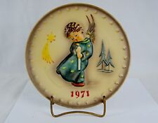 """Heavenly Angel"" Hummel Annual Collector Plate ~ Christmas 1971 ~ #9140020"