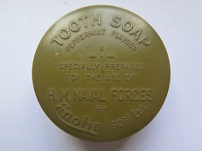 TOOTH SOAP POT LID & BASE for HIS MAJESTYS NAVAL FORCES by ENOLIN 1926 Ltd UK