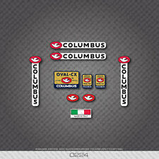 0224 Columbus OVAL CX Bicycle Frame and Fork Stickers - Decals