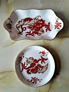 "Crown Staffordshire ""Rangoon"" X 2 Pin dish's"