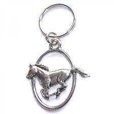 Running Horse PEWTER KEY RING FOB CHAIN BAG CHARM Owner Rider BIRTHDAY PRESENT
