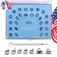 US 28pcs/kit Dental Orthodontic Self-Ligating Brackets Mini Roth.022 Hooks 3,4,5