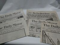 Replica Newspapers From The Sinking Of The Titanic. Daily Mirror NY Times. B30