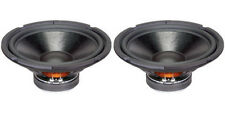 "NEW (2) 10"" Speakers.8ohm.Ten inch.Woofer PAIR.Stereo Subwoofer Replacement.105w"