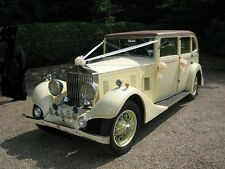 Luxury White Wedding Car Kit Waterproof Decoration 5 Large Bows and Ribbon 10mts