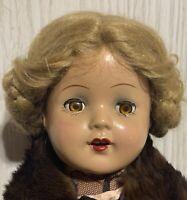"MA Alexander Princess Elizabeth Face Unmarked R&B Nancy Composition Doll 17.5"""