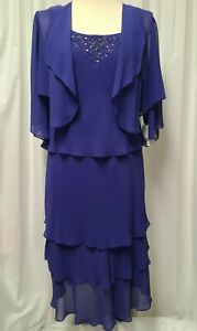 ALEX EVENINGS Mother of the Bride Event Dress Size 8P Retail $179