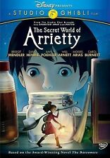 The Secret World of Arrietty (DVD, 2012) DISNEY ANIME
