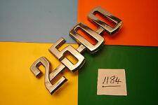 1960s CLASSIC ROOTES GROUP 2500 CHROME BADGE EMBLEM. P/No: 1/350 HP 1
