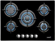 Gaskochfeld Cata 70cm Autark 5 Brenner 3,5kW Wok Gasherd Einbauherd Schwarzglas