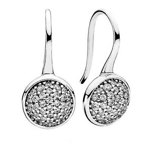 Pandora New Authentic Dazzling Droplets Earrings # 290734CZ