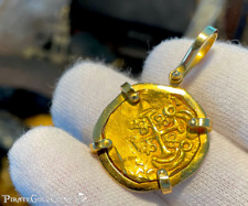 COLOMBIA ESCUDOS 1715 FLEET FISHER COA JEWELRY PENDANT PIRATE GOLD COINS