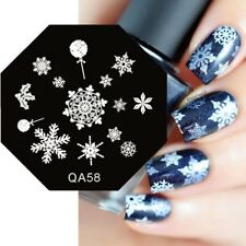 Nail Art Stamping Plates Image Plate Christmas Snowflakes Holly Baubles (QA58)