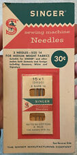 3 Pack Vintage SINGER Sewing Machine Needles #2020 Sz 14 Kenmore White Signature