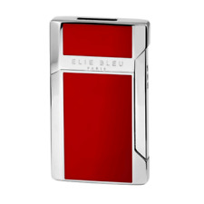 Elie Bleu Plano Jet Flame Lighter Red Lacquer Finish,  EBJ1205, New In Box