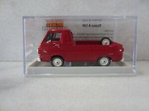 BREKINA 34327 vintage DODGE A 100 PICK UP RED Model is Plastic 1/87 / HO SCALE