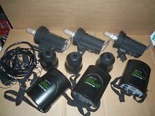 LOT 3 Calumet Genesis 300B w/ Genesis B Power Port Studio Flash Lighting Strobe