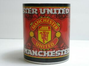 MANCHESTER UNITED Coffee Cup by Crest 1997 Advertising/Souvenir Cup Great Shape