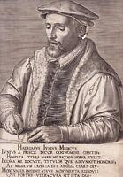 Portrait XVIIe Hadrianus Junus Adriaen De Jonghe Médecin Humaniste Hollandais