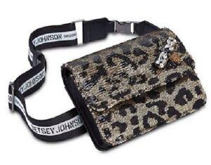 BNWT Betsey Johnson Leopard Converatlbe Belt/Crossbody Bag With 3D Bee Motif
