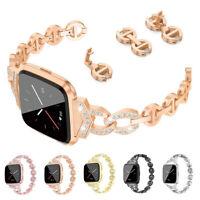 Diamond Bracelet for Fitbit Versa / 2 Stainless Steel Band Wrist Watch Strap