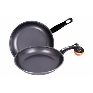 Non Stick Black Frying Pan Carbon steel Coated For Gas Electric  26cm