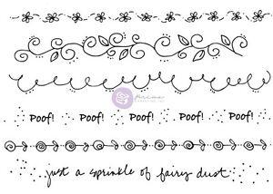 Prima Julie Nutting Border Edge Stamp Set Flower Vine Fairy-910297