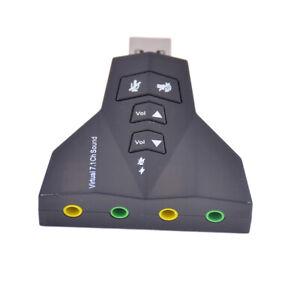 External Virtual 7.1 Ch HD Sound USB Audio Card Mic Adapter PC Laptop Desktop