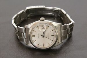 Gorgeous Men's Rolex Oyster Precision Date Stainless Steel 6694 Wrist watch