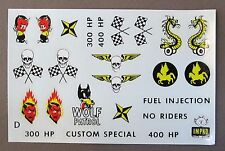 1950's Impko HOT ROD RACING decals for model kits Skulls Devils  MINT in package