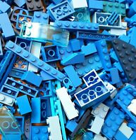 LEGO 50 x Blue Bricks Tiles Plates Technic Pieces - Random Job lot