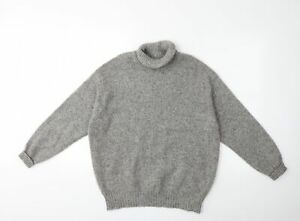 United Colors of Benetton Womens Grey  Knit Pullover Jumper Size M