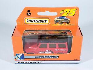 1999 MATCHBOX SUPERFAST #25 MERCEDES-BENZ G-WAGON TOP SECRET MISSION NEW NIB