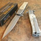 TAC-FORCE Spring Assisted Opening WHITE PEARL STILETTO Folding Pocket Knife NEW!