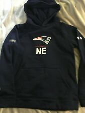 New England Patriots UA Combine Hoodie Youth LG 14/16 NWT