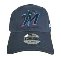Miami Marlins MLB New Era 49FORTY Graphite Gray Core Fitted Hat XL Fit Cap New