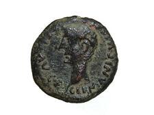Monedas Ibericas: Colonia Romula. As, Tiberio, 14 d.c a 36 d.c.