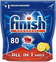 Finish Powerball 80 Dishwasher Tablets All In One Max Lemon Sparkle