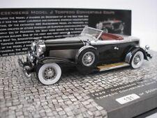 DUESENBERG modello J Torpedo convertibile Coupè 1929 NERO 1/43 Minichamps NUOVO