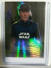 2016 TOPPS STAR WARS FORCE AWAKENS COLONEL DATOO REFRACTOR AUTOGRAPH CARD SWCCG