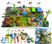 46 pcs Military Playset Toy Soldiers Army Men Multi-Color Figures & Accessories