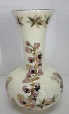 kleine Vase Elfenbein Porzellan Zsolnay Hand bemalt H11,5cm